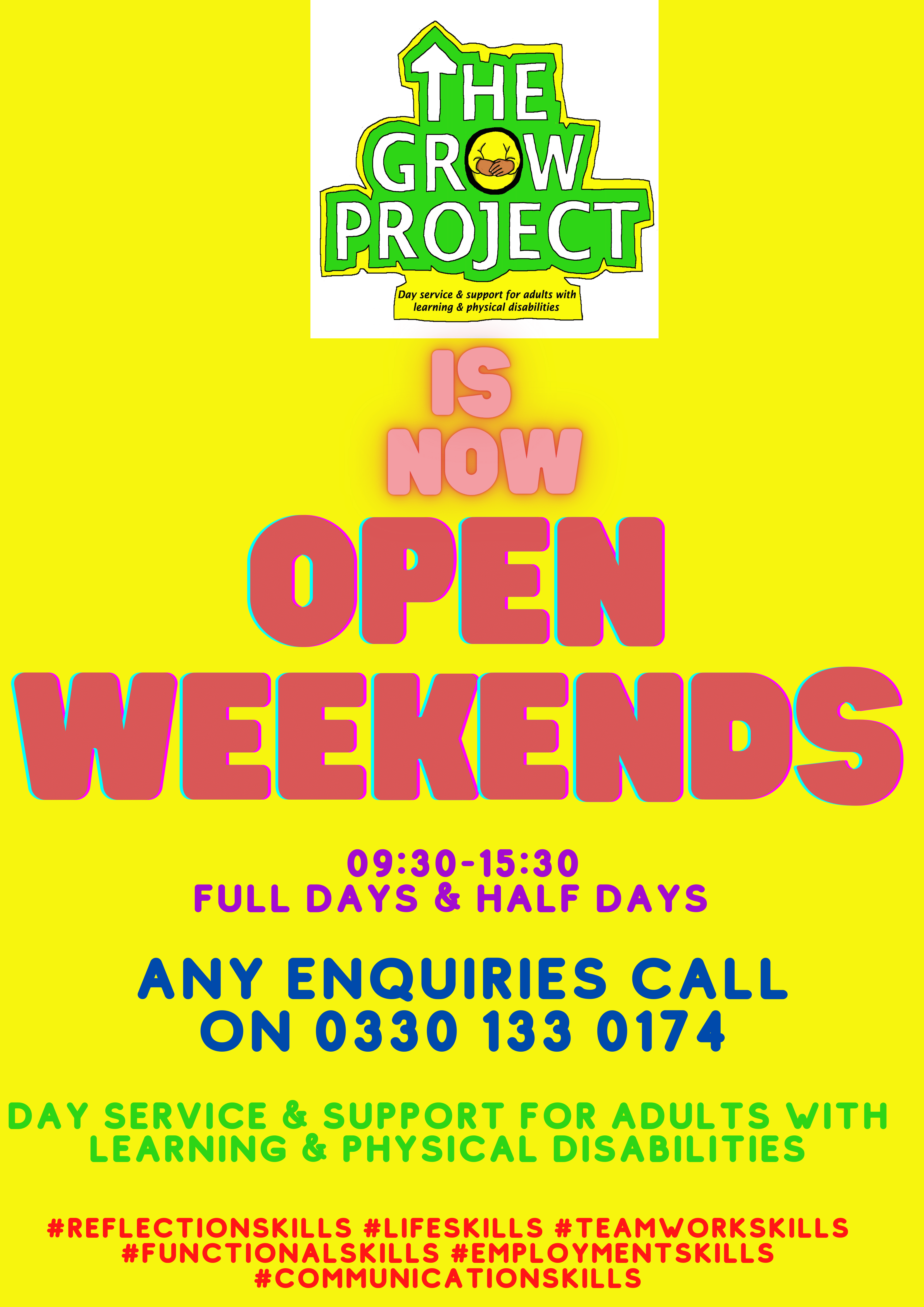 Grow Project Open Weekends